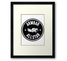 Armbar Allstar Framed Print