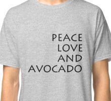 Peace, Love & Avocado - T-Shirt Classic T-Shirt