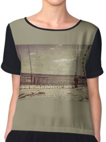 Seaside Heights After Sandy Chiffon Top