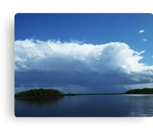 Severe storms moving into northwest Wisconsin Canvas Print