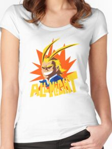 ALL MIGHT!!!!! Women's Fitted Scoop T-Shirt