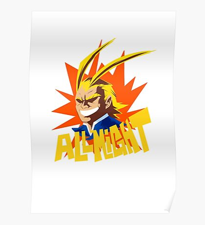 ALL MIGHT!!!!! Poster