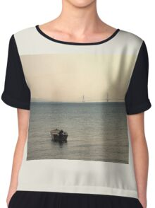 Lonely Boat Chiffon Top