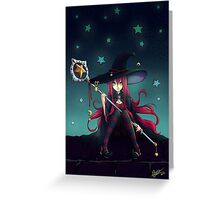 Starlight Witch Greeting Card