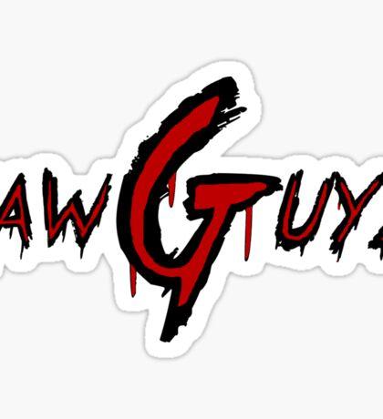 Raw Guyz Logo Text Sticker