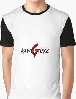 Raw Guyz Logo Text Graphic T-Shirt