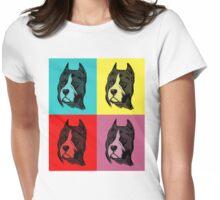 Dog Pop Art Womens Fitted T-Shirt