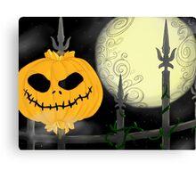 Pumpkins Scream in the Dead of Night Canvas Print