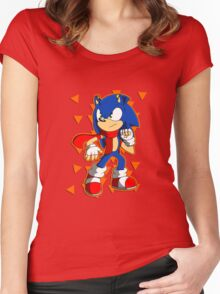 Tough Sonic Women's Fitted Scoop T-Shirt