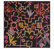 Black, Yellow, Pink Chakana Mash-up Kids Tee