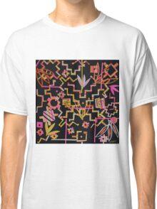 Black, Yellow, Pink Chakana Mash-up Classic T-Shirt