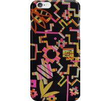 Black, Yellow, Pink Chakana Mash-up iPhone Case/Skin