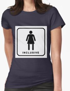 inclusive restroom sign Womens Fitted T-Shirt