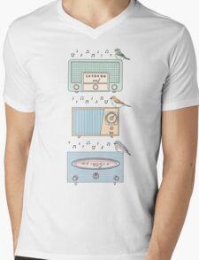 Radio Birds Mens V-Neck T-Shirt