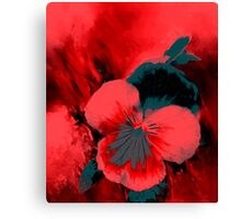 Scarlet Pansy Canvas Print