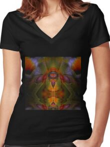 Wisdom Women's Fitted V-Neck T-Shirt