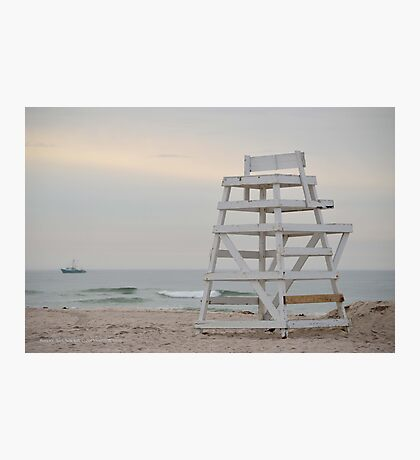 Lifeguard Chair At Ponquogue Beach | Hampton Bays, New York  Photographic Print