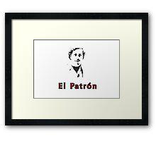 El Patron, Pablo Escobar Framed Print