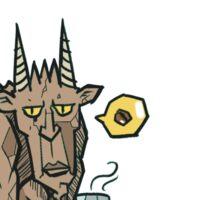 Gargoyle: Coffee Sticker