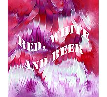 Red, white and beer Photographic Print