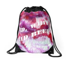 Red, white and beer Drawstring Bag