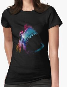 Space Shark Womens Fitted T-Shirt