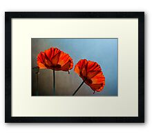Poppy design Framed Print