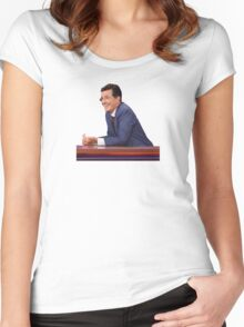 The Late Show with Stephen Colbert Women's Fitted Scoop T-Shirt