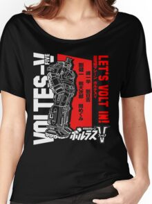 NEW VOLTES V 5 FIVE RETRO MECHA ANIME ROBOT  Women's Relaxed Fit T-Shirt