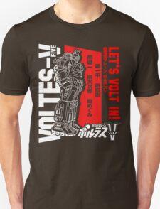 NEW VOLTES V 5 FIVE RETRO MECHA ANIME ROBOT  Unisex T-Shirt
