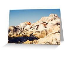 Red rocks, white rocks Greeting Card