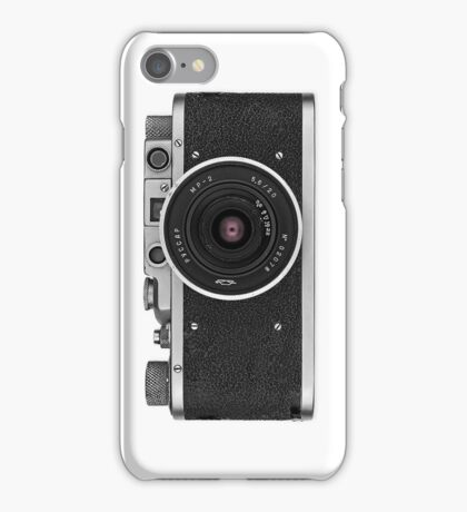 Vintage FED Leica with legendary RUSSAR MP-2 iPhone Case/Skin