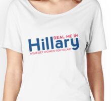 Hillary Blue and Red  Women's Relaxed Fit T-Shirt