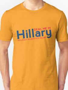 Hillary Blue and Red  Unisex T-Shirt