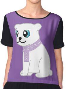 Cute Cartoon Polar Bear Chiffon Top