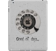 Traditional rotary telephone dial. Apple. iPad Case/Skin
