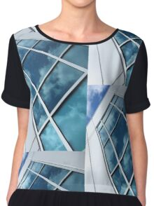 Reflections Of A Sunlit Sky Chiffon Top
