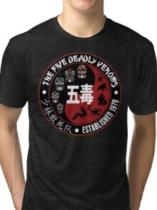 CLASSIC KUNG FU MOVIE THE 5 DEADLY VENOMS SHAOLIN SQUAD T-SHIRT Tri-blend T-Shirt