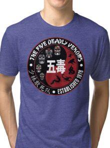 CLASSIC KUNG FU MOVIE THE 5 DEADLY VENOMS SHAOLIN SQUAD T-SHIRT Tri-blend T-Shirt