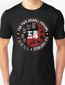 CLASSIC KUNG FU MOVIE THE 5 DEADLY VENOMS SHAOLIN SQUAD T-SHIRT Unisex T-Shirt