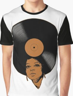Afrovinyl (Brown) Graphic T-Shirt