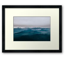 mountain echoed Framed Print