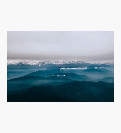 mountain echoed Photographic Print