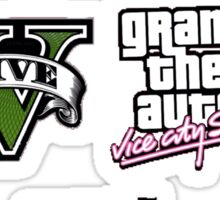 Grand Theft Auto Sticker Pack (Set of 4) Sticker