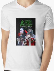 UZA Zombies Mens V-Neck T-Shirt
