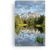 Teton Range Reflected in the Snake River Canvas Print