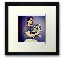 Sebastian stan and wolf plushie  Framed Print