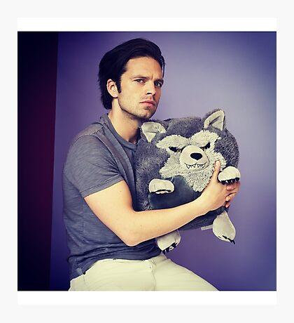 Sebastian stan and wolf plushie  Photographic Print