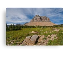 Pollock Mountain from Logan Pass Canvas Print