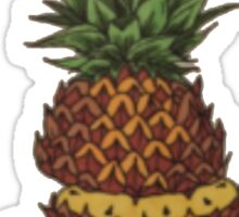 Sliced Pineapple Drawing Sticker